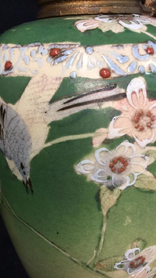 Pair Antique Satsuma Victorian Urns C1890 - 8