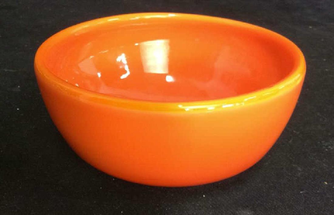 Sunkist Orange Toned Murano Art Glass Bowl C 1970