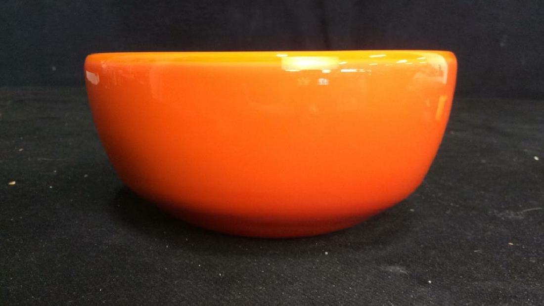 Sunkist Orange Toned Murano Art Glass Bowl C 1970 - 2