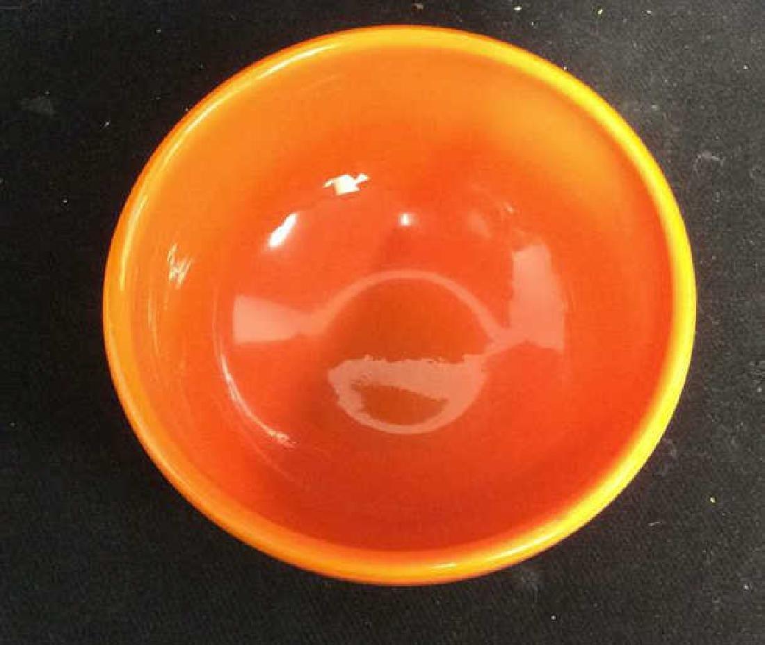 Sunkist Orange Toned Murano Art Glass Bowl C 1970 - 3