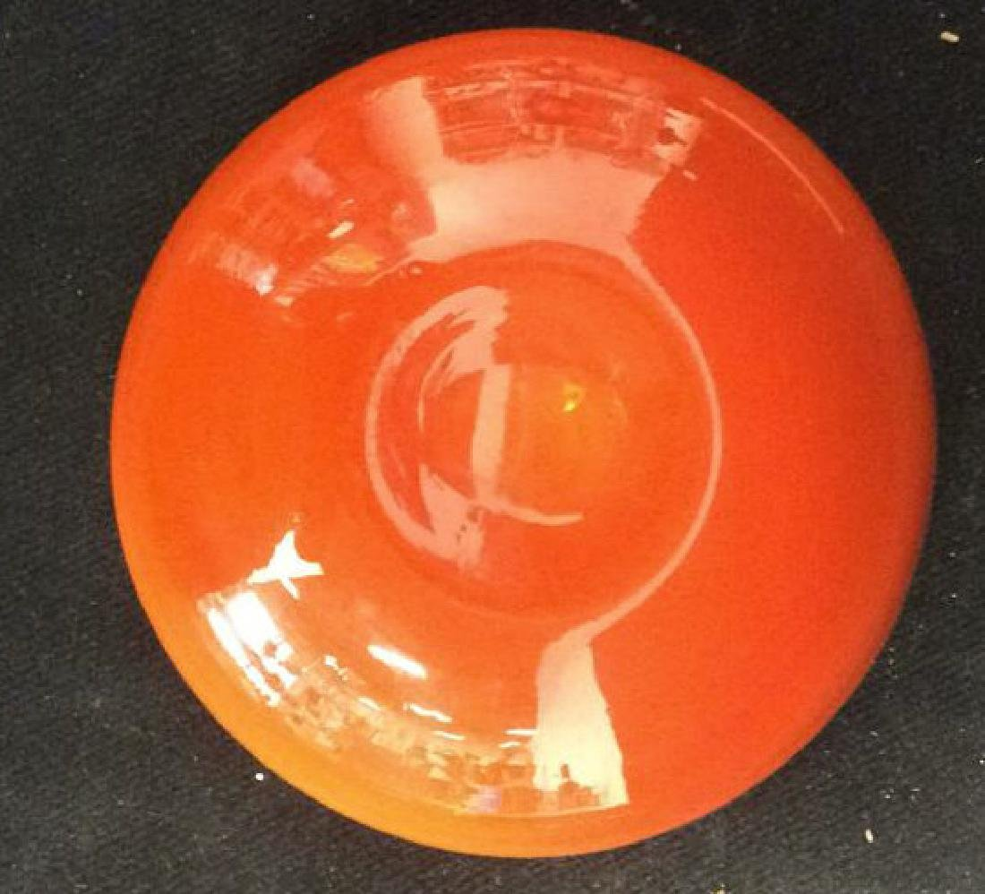 Sunkist Orange Toned Murano Art Glass Bowl C 1970 - 4