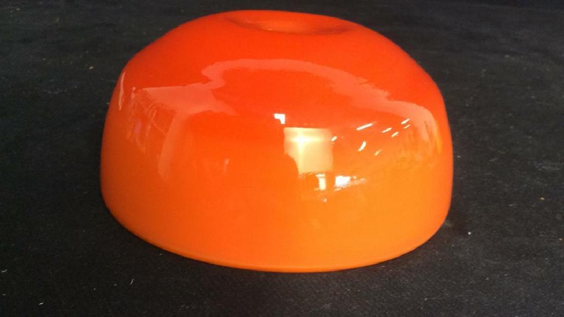 Sunkist Orange Toned Murano Art Glass Bowl C 1970 - 7