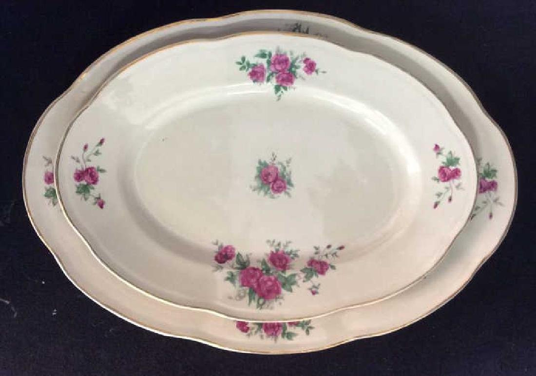 87 Pieces Rose Patterned China Set, Poland - 10