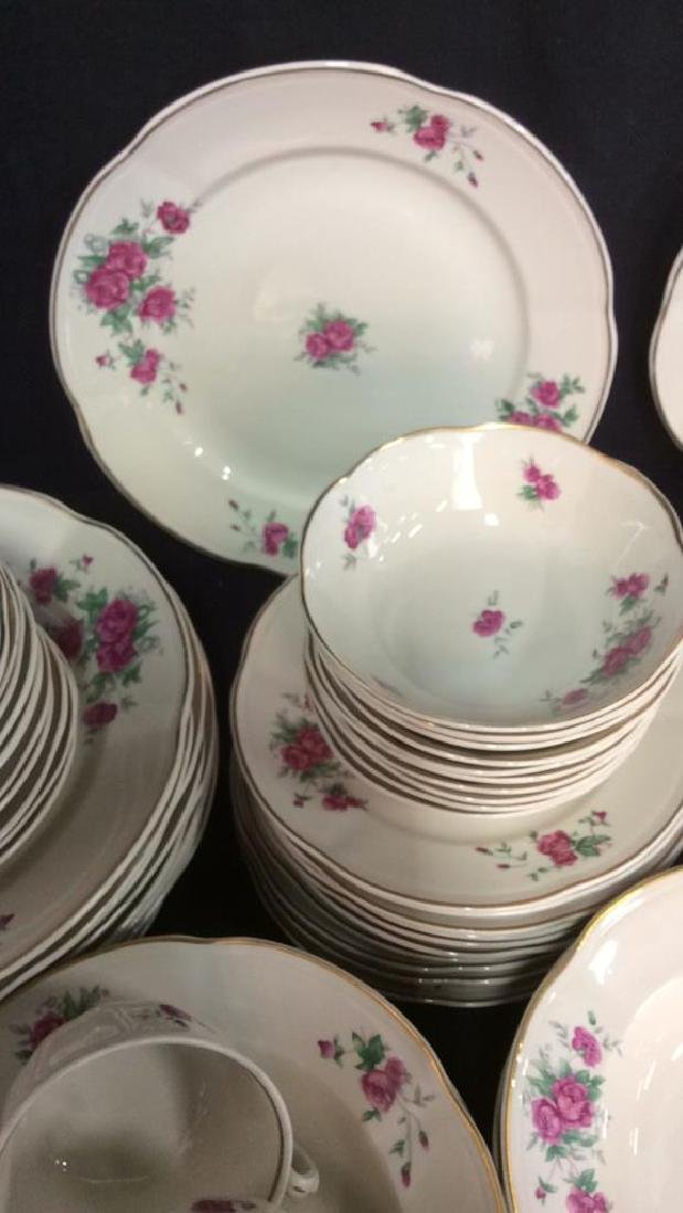 87 Pieces Rose Patterned China Set, Poland - 11