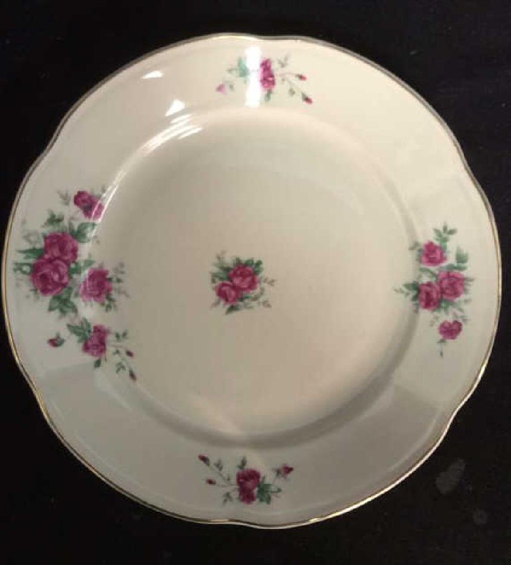 87 Pieces Rose Patterned China Set, Poland - 4