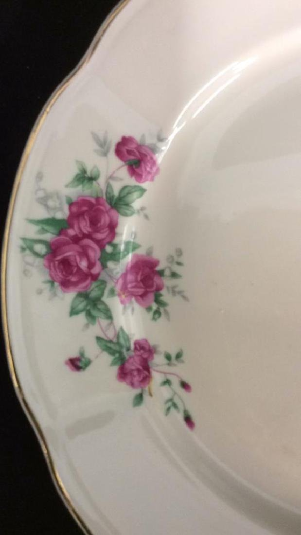 87 Pieces Rose Patterned China Set, Poland - 5