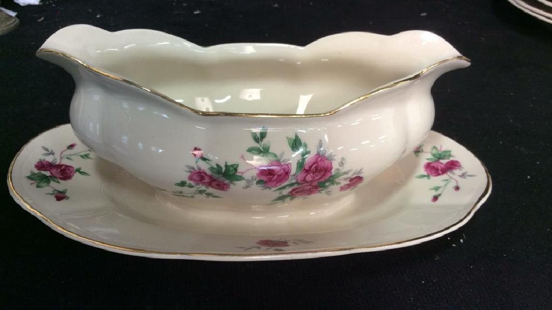 87 Pieces Rose Patterned China Set, Poland - 7
