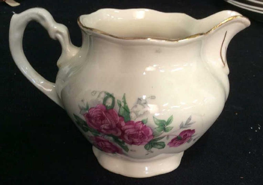 87 Pieces Rose Patterned China Set, Poland - 8