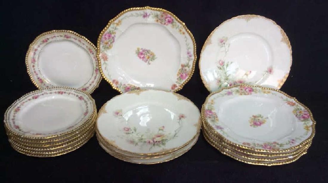 3 Sets Limoges French  Porcelain  Plates
