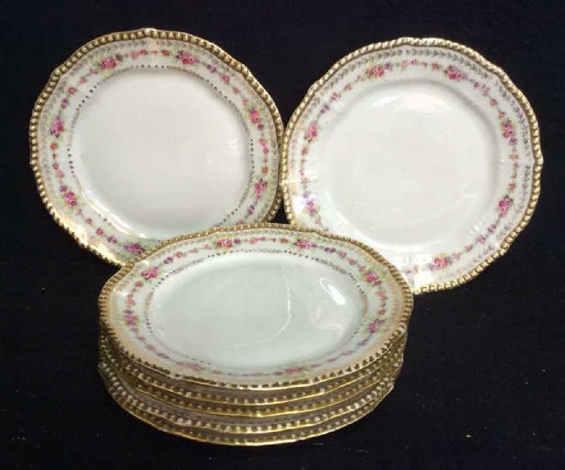 3 Sets Limoges French  Porcelain  Plates - 2