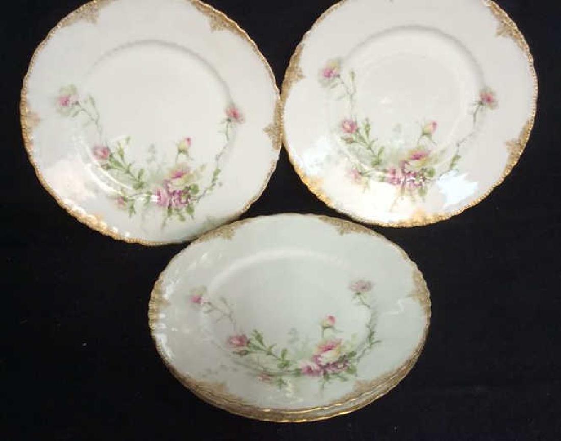 3 Sets Limoges French  Porcelain  Plates - 4