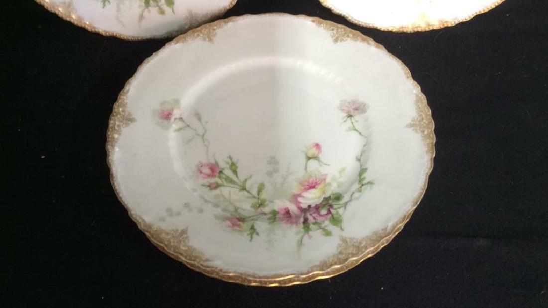 3 Sets Limoges French  Porcelain  Plates - 5