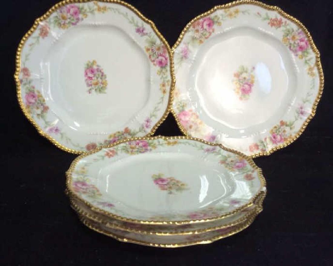 3 Sets Limoges French  Porcelain  Plates - 6