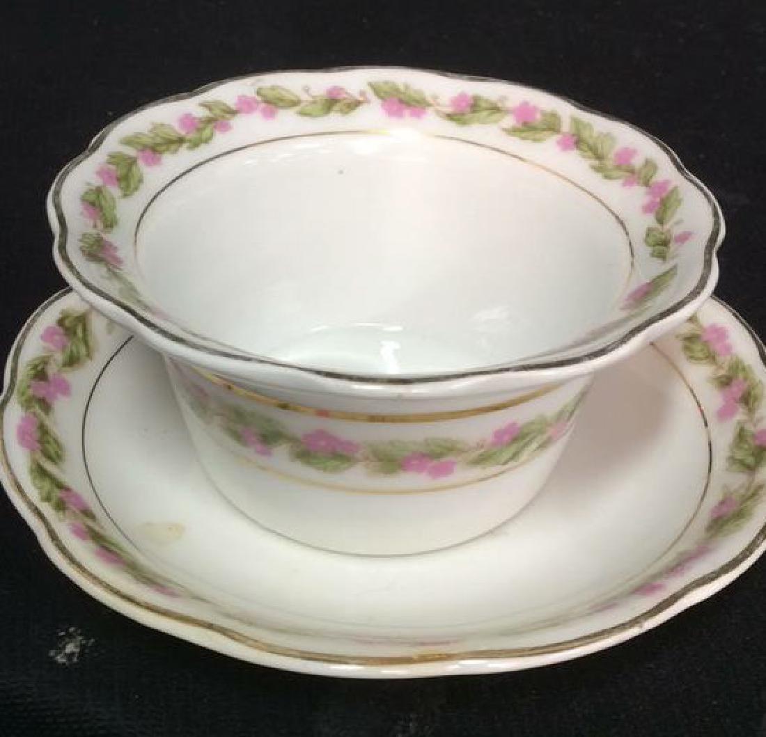 Group Lot Antique Vintage Floral Porcelain Smalls - 10