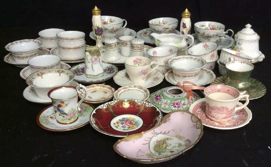 Group Lot Antique Vintage Floral Porcelain Smalls