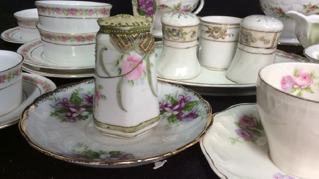 Group Lot Antique Vintage Floral Porcelain Smalls - 2