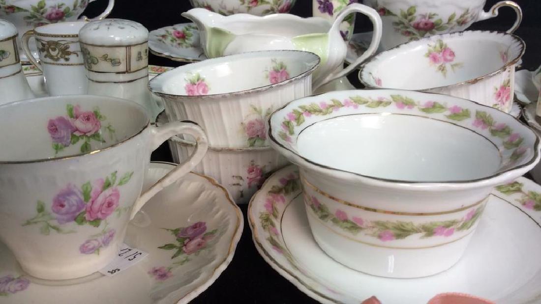 Group Lot Antique Vintage Floral Porcelain Smalls - 3