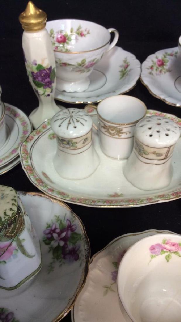 Group Lot Antique Vintage Floral Porcelain Smalls - 4
