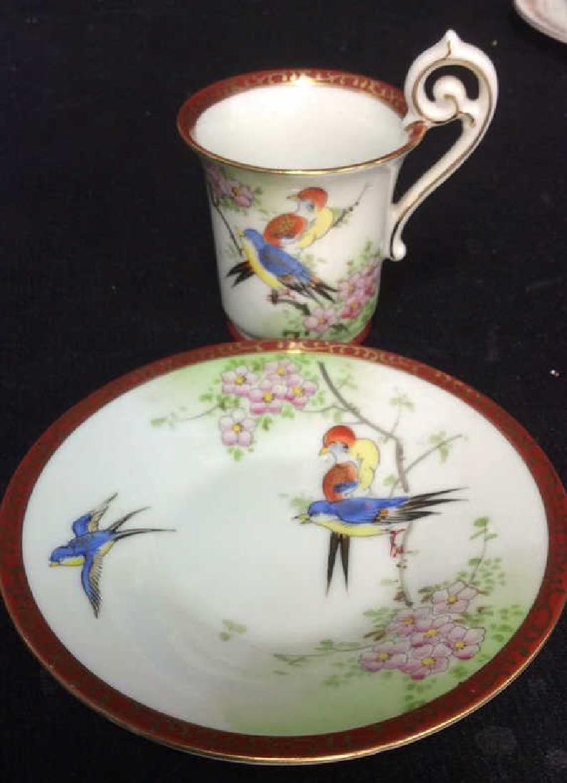 Group Lot Antique Vintage Floral Porcelain Smalls - 6