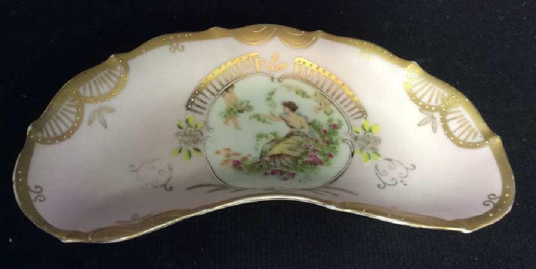 Group Lot Antique Vintage Floral Porcelain Smalls - 7