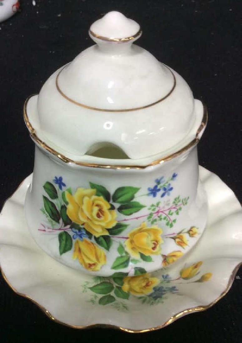 Group Lot Antique Vintage Floral Porcelain Smalls - 8