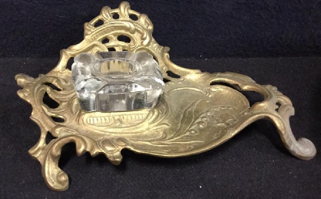 Vintage Art Nouveau Inkwell