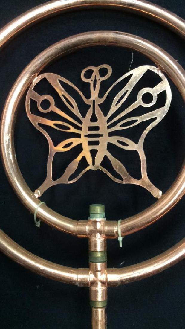 Copper Butterfly Spinning Garden Decor - 2