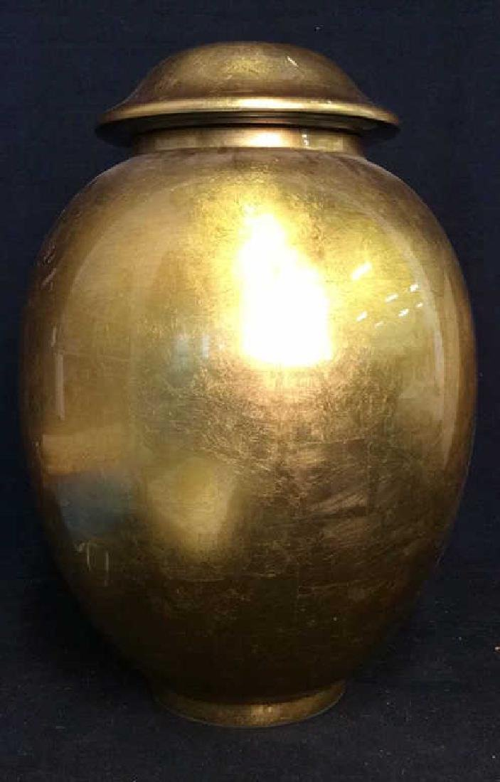 THE SILK TRADING CO Lacquered Gold Ginger Jar