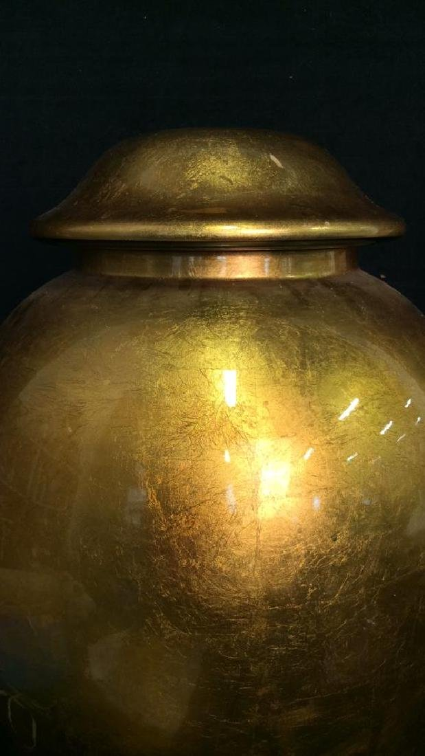 THE SILK TRADING CO Lacquered Gold Ginger Jar - 2