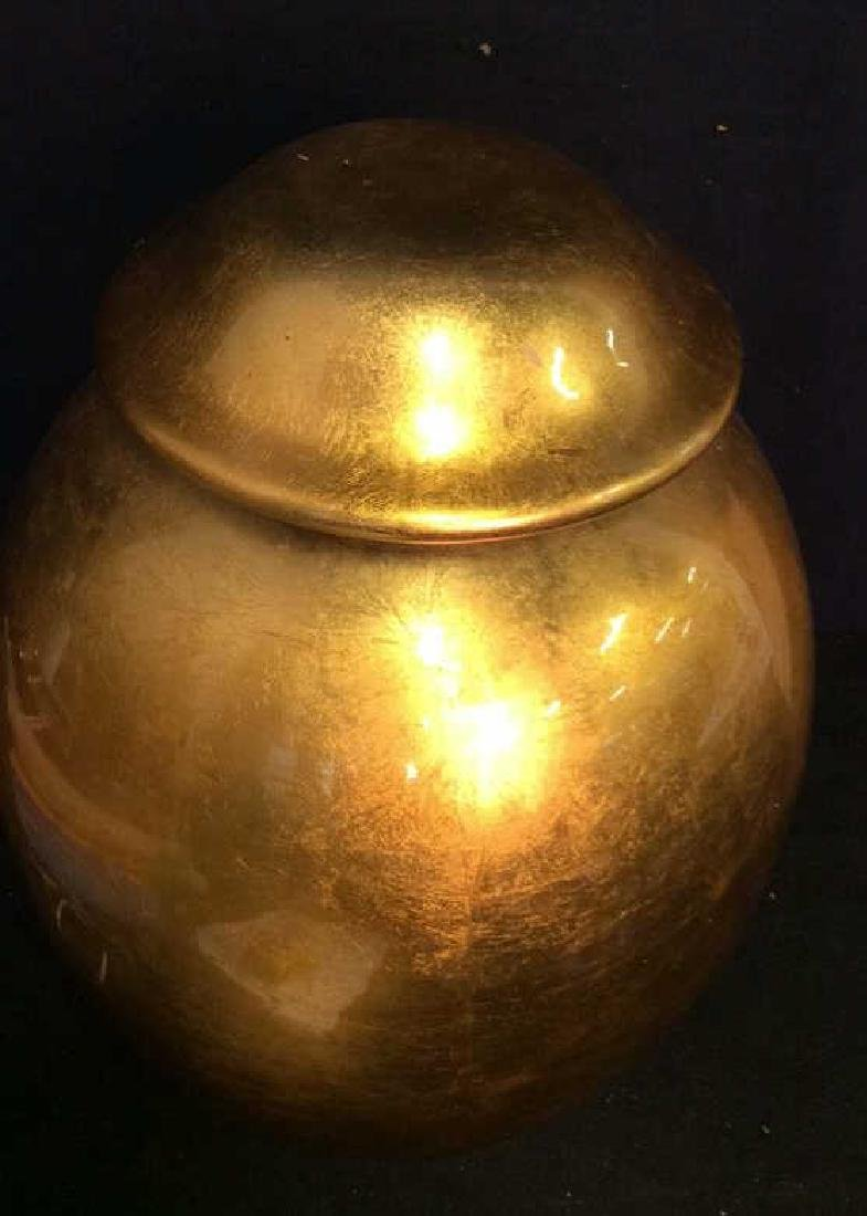 THE SILK TRADING CO Lacquered Gold Ginger Jar - 4