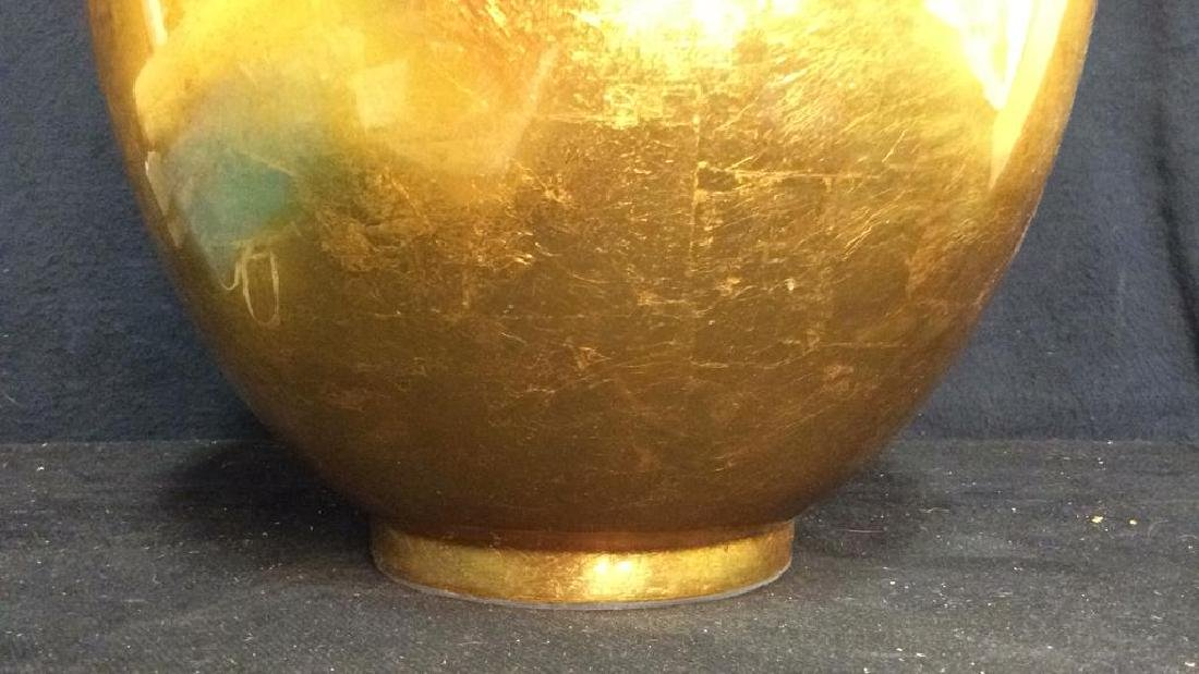 THE SILK TRADING CO Lacquered Gold Ginger Jar - 5