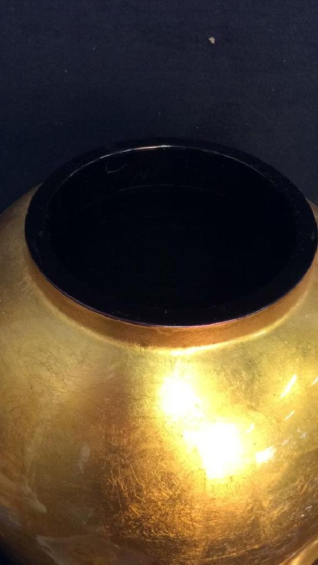 THE SILK TRADING CO Lacquered Gold Ginger Jar - 6
