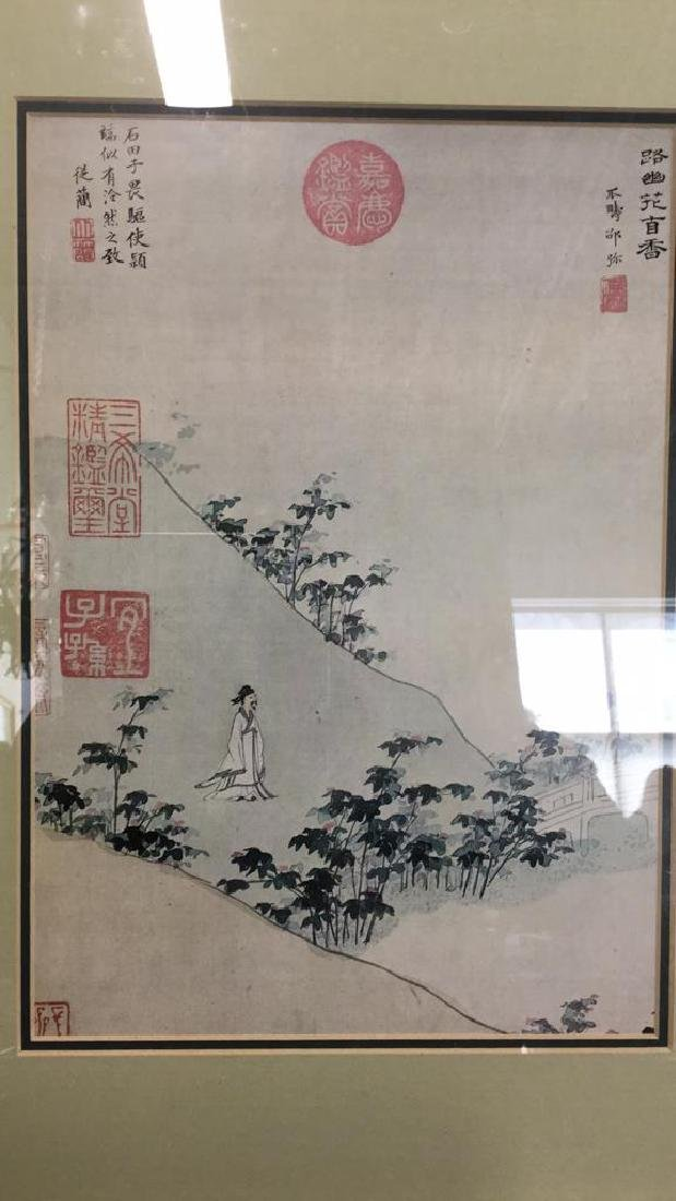 Asian Print on Paper Matted Framed - 3