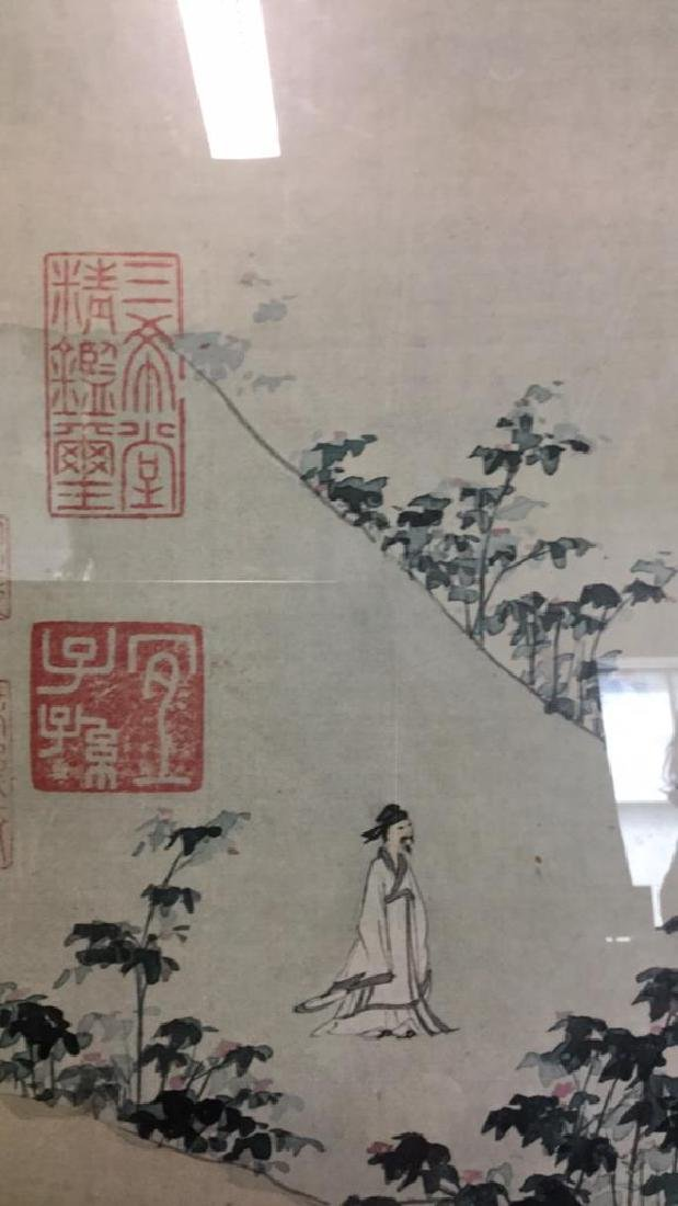 Asian Print on Paper Matted Framed - 6