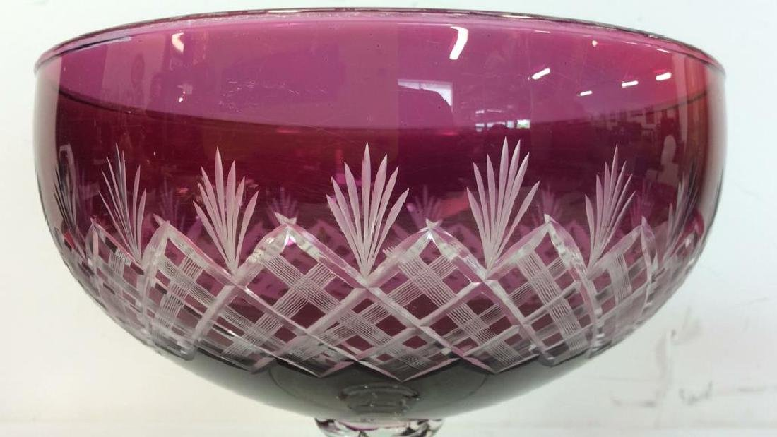 Set 6 Hand Blown Stem & Crystal Bowl Glasses - 9