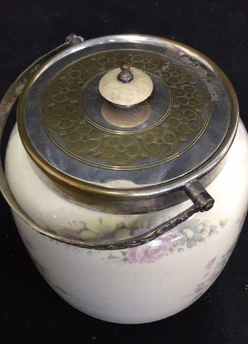 Antique British Lidded Biscuit Box Porcelain - 5