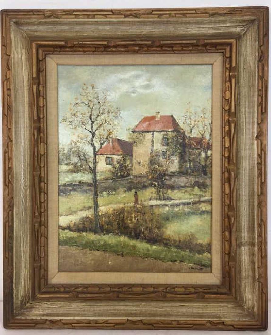 LOUIS PEYRAT Oil On Canvas Painting