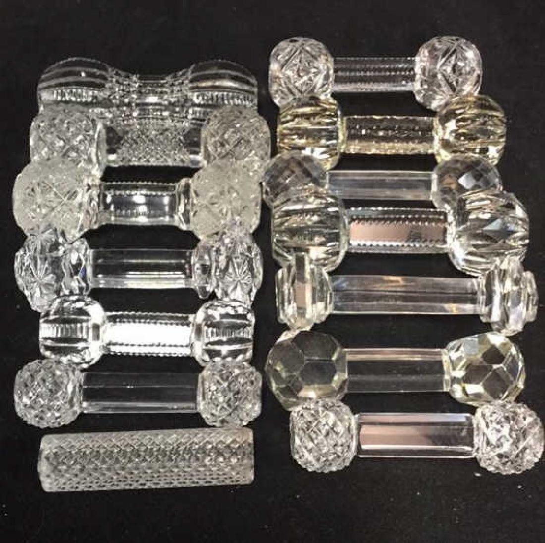 Collection Antique Vintage Cut Crystal Knife Rests