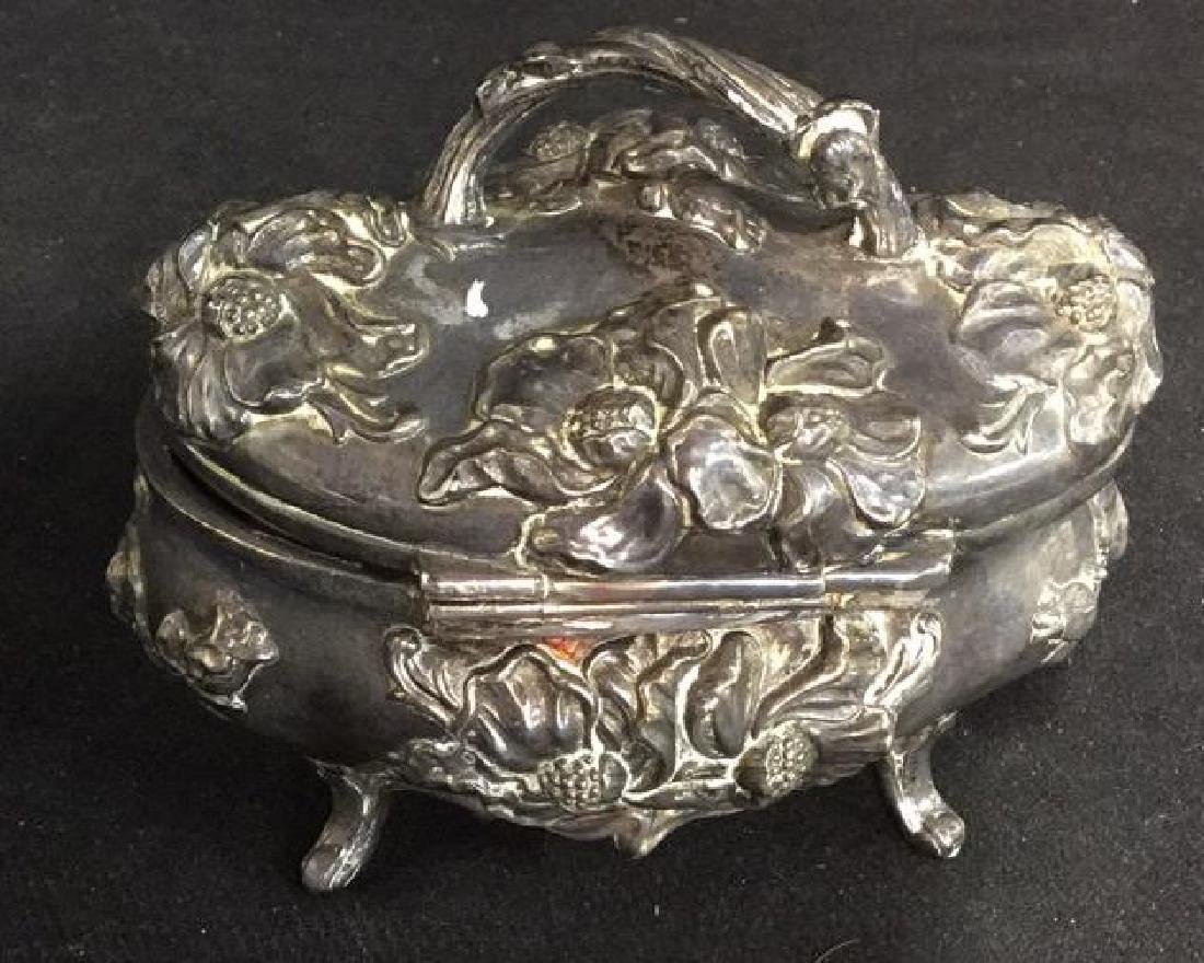 Aesthetic Movement Repousse Silver Pl Box, JB - 5