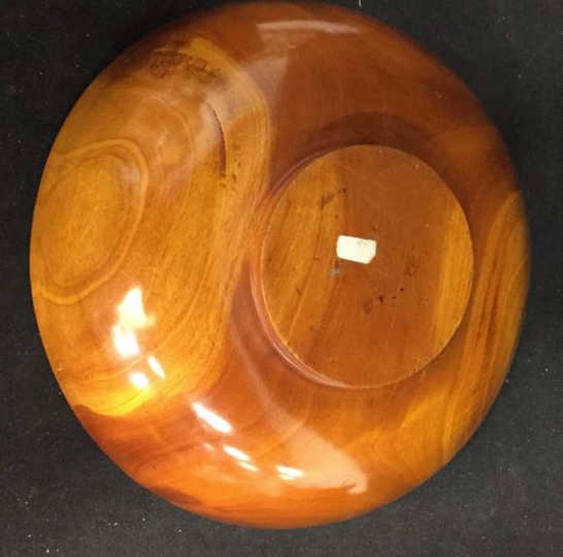 Glossy Hand Made Teak large Bowl w 6 Bowls - 6