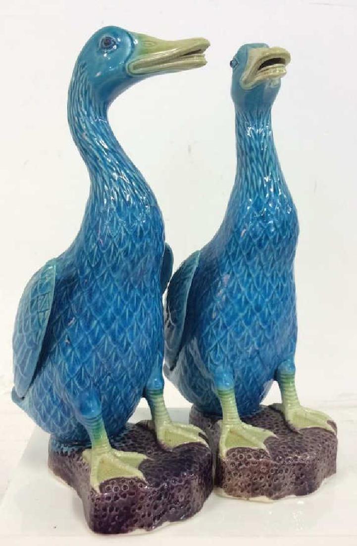 Pair Vintage/Antique Porcelain Duck Figurals