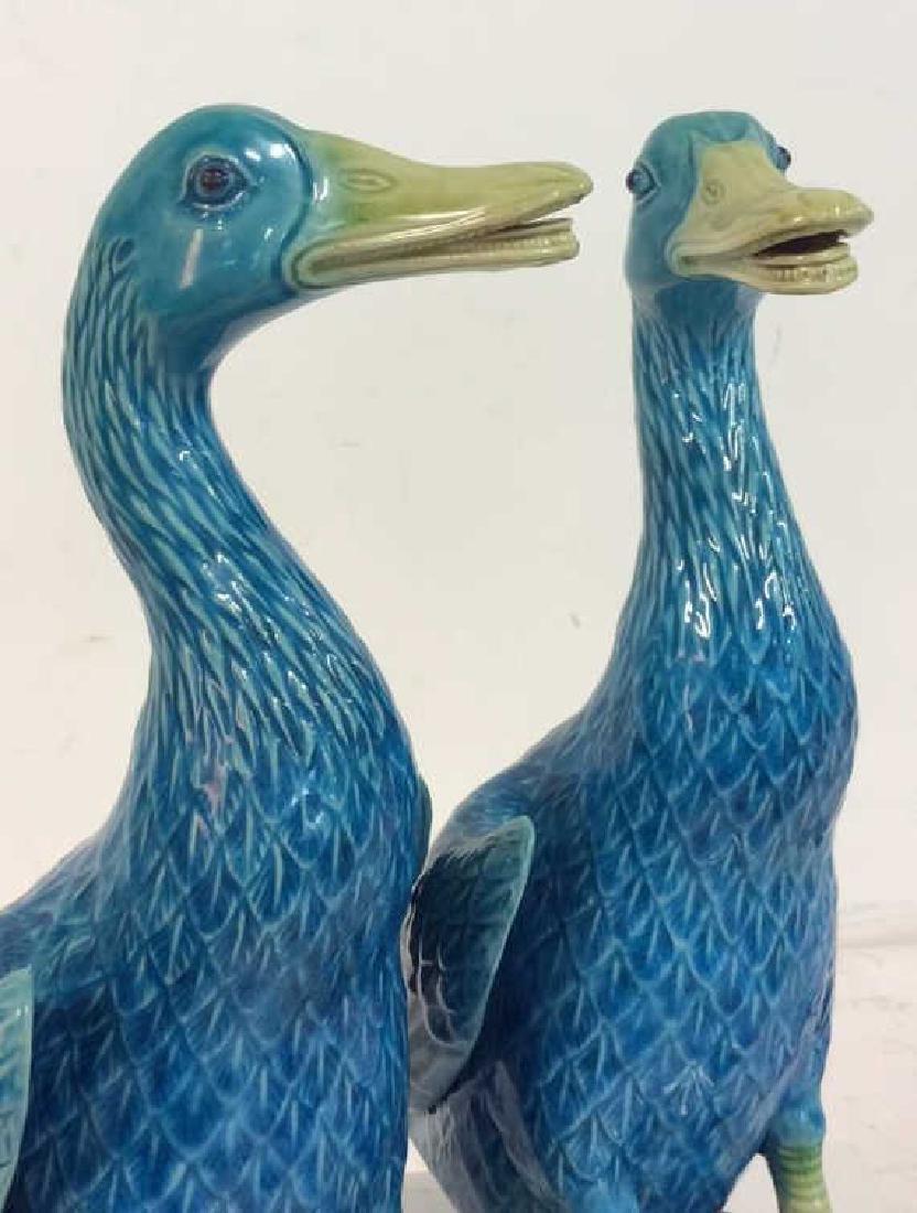 Pair Vintage/Antique Porcelain Duck Figurals - 2
