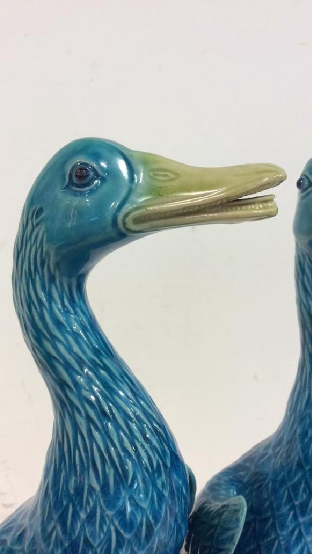 Pair Vintage/Antique Porcelain Duck Figurals - 3