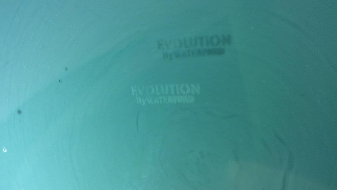 WATERFORD Evolution Glass 20th Century Centerpiece - 6