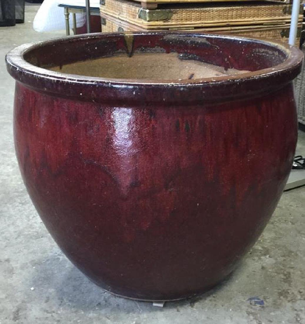 Extra Large Glazed Ceramic Planter Pot