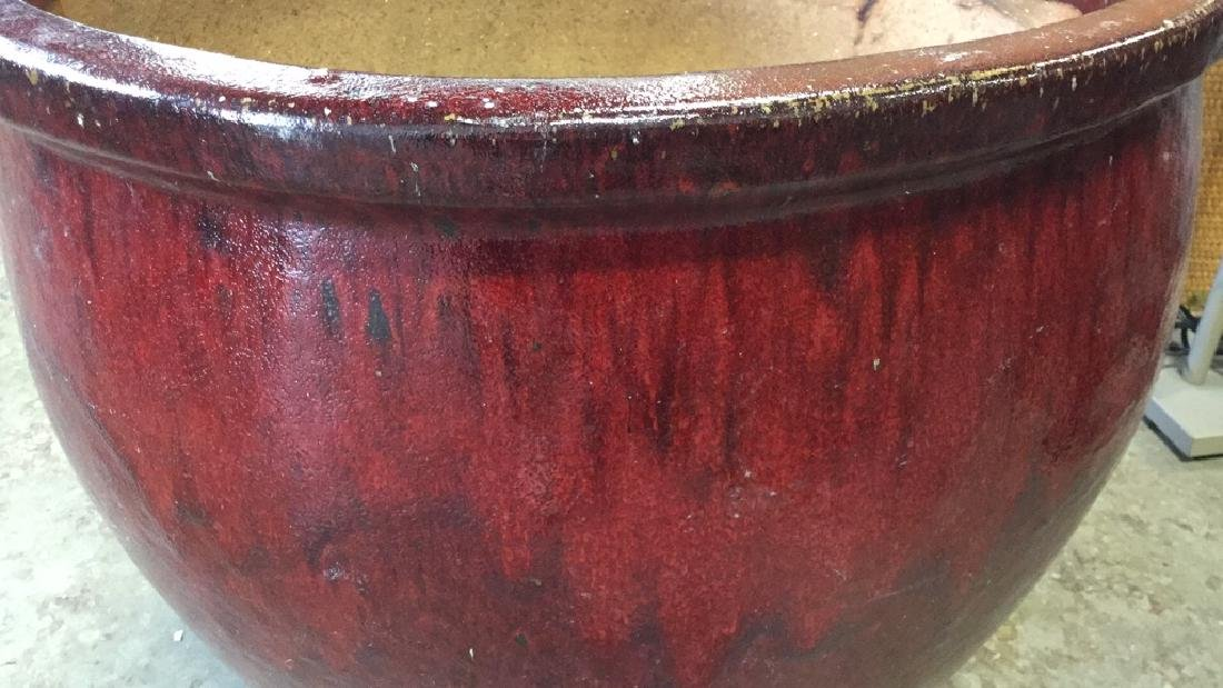 Extra Large Glazed Ceramic Planter Pot - 2