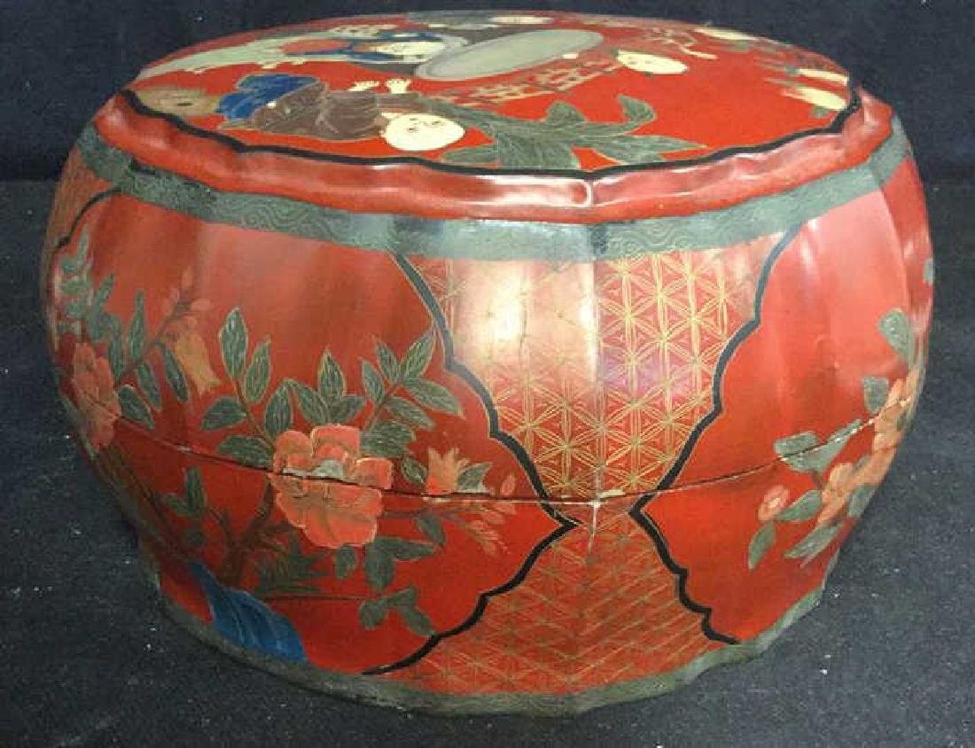 Antique Chinese Lacquered and Carved Storage Box - 4