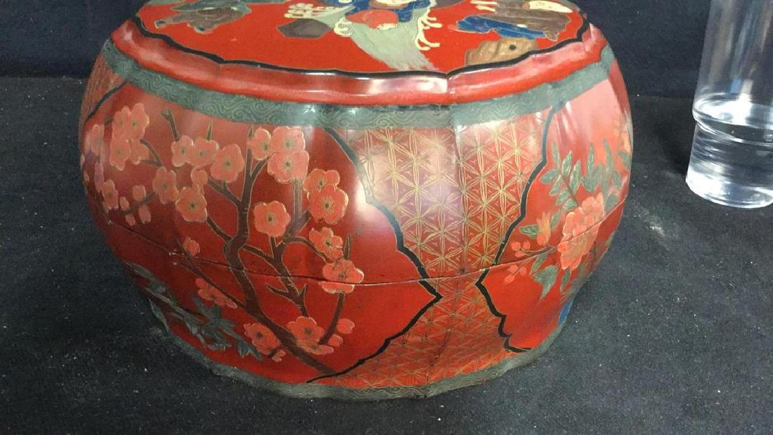 Antique Chinese Lacquered and Carved Storage Box - 5