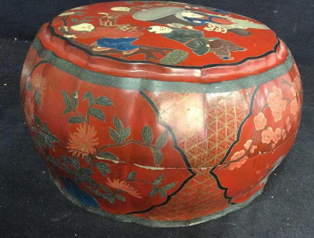 Antique Chinese Lacquered and Carved Storage Box - 6
