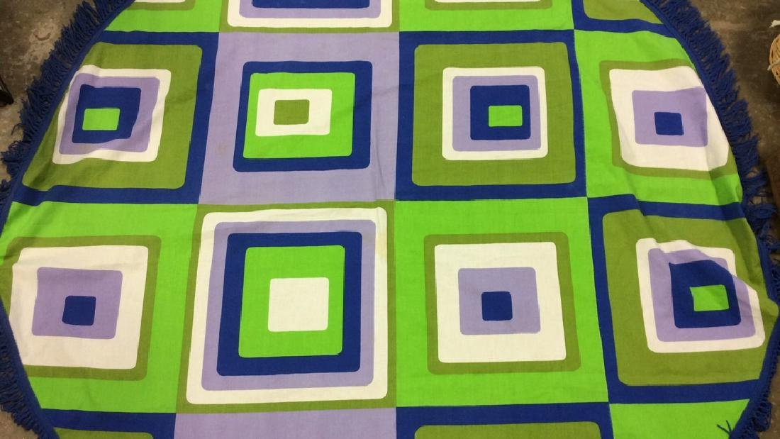 Mid Century Op Art Table Cloth C.1960 Panton Era - 2